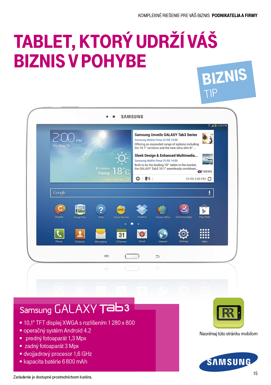 Telekom business leaflet Samsung Galaxy Tab 3