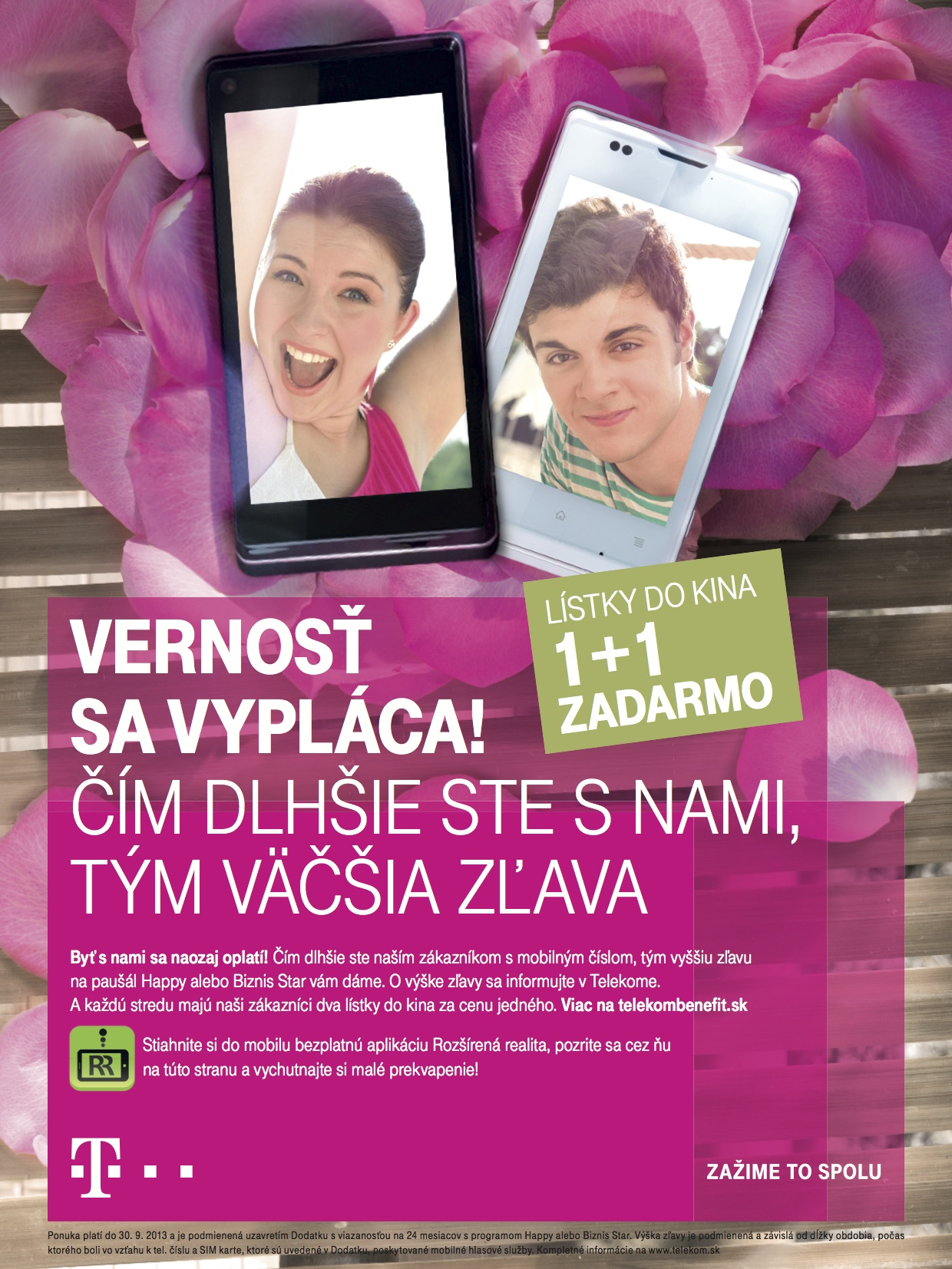 Telekom campaign Loyalty brings roses